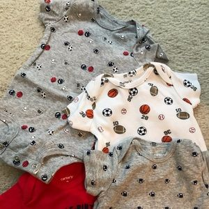 Sports size 3 month onesies